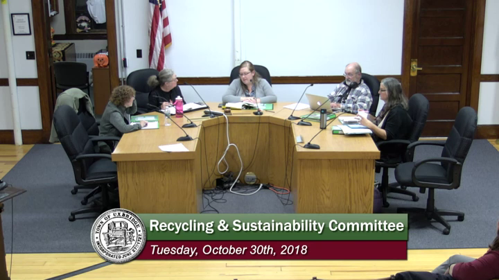Recycling & Sustainability Committee - (10/30/2018)
